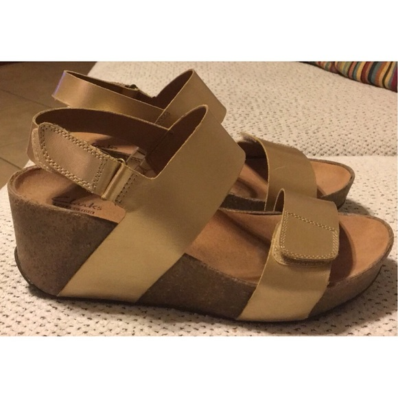 3b96c7bb3c62 Clarks Shoes - Clarks Auriel Fin Wedge Sandals